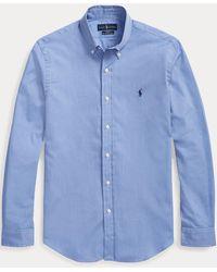 Polo Ralph Lauren Camisa De Popelina Slim Fit - Azul