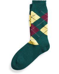 Ralph Lauren Hand-cranked Argyle Wool Socks - Green