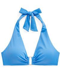 Lauren by Ralph Lauren Ralph Lauren Ring-front Halter Bikini Top - Blue