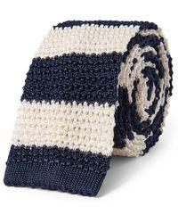 Polo Ralph Lauren - Cravate étroite tricot de soie rayée - Lyst