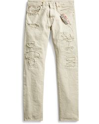 RRL - Slim Fit Distressed Jean - Lyst
