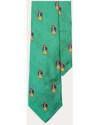 Polo Ralph Lauren Cravate en soie Polo Bear - Vert