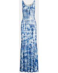 Ralph Lauren Sequinned Tie-dye Maxidress - Blue