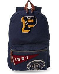 Lyst - Polo Ralph Lauren Men s Military Backpack in Blue for Men c2fc247731c69