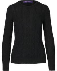 Ralph Lauren Collection Ralph Lauren Cable-knit Cashmere Sweater - Black