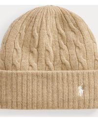 Polo Ralph Lauren Cable-knit Wool-cashmere Hat - Natural