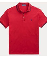 Polo Ralph Lauren Polo Interlock Custom Slim Fit - Rojo