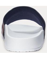 Polo Ralph Lauren Claquettes Cayson à logo - Noir