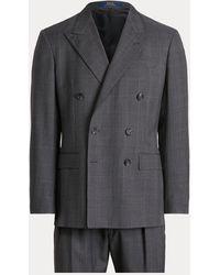 Ralph Lauren Polo Plaid Wool Twill Suit - Grey