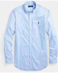 Ralph Lauren Camisa De Popelina A Rayas - Azul