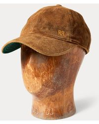 RRL Cappellino da baseball in camoscio - Marrone
