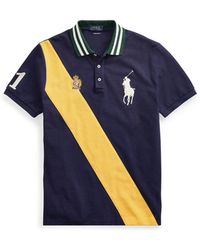 a77425b75c9f2 Lyst - Polo Ralph Lauren Classic Striped Cotton Polo in Blue for Men