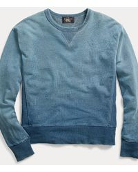 RRL Indigo French Terry Sweatshirt - Blue