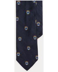 Ralph Lauren Silk Club Tie - Blue