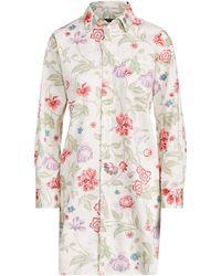 Lyst - Ralph Lauren Striped Cotton Sleep Shirt in Pink 5d7c1635e