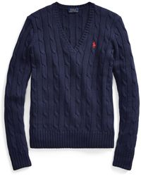 Polo Ralph Lauren - Cable-knit V-neck Jumper - Lyst