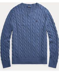 Polo Ralph Lauren - Baumwollpullover mit Zopfmuster - Lyst