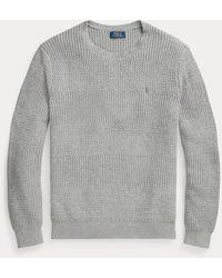 Polo Ralph Lauren Rundhalspullover aus Baumwolle - Grau