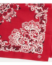 Polo Ralph Lauren Bandanna-Print Cotton Scarf - Rouge