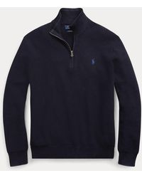 Ralph Lauren Baumwollpullover mit Reißverschluss - Blau