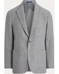 Polo Ralph Lauren Tweed-Anzugjacke aus Wollmischung - Grau