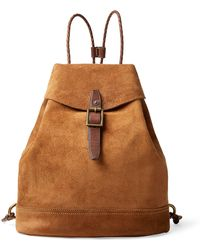 Roughout Leather Backpack - Brown
