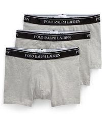 Polo Ralph Lauren Lot de 3 boxers coton stretch - Bleu