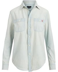 Polo Ralph Lauren Polo Bear Chambray Shirt - Blue
