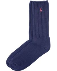 Polo Ralph Lauren - Cotton-blend Crew Socks - Lyst