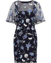 Ralph Lauren - Flutter Overlay Dress - Lyst