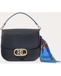 Ralph Lauren Print-scarf Small Addie Crossbody - Blue