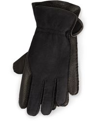 Ralph Lauren Leather-shearling Gloves - Black