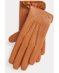 Ralph Lauren Sheepskin Tech Gloves - Brown