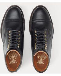 RRL Livingstone Leather Boot - Size 8 - Black