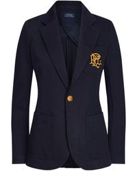 Polo Ralph Lauren Double-knit Jacquard Blazer - Blue