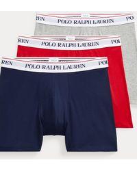 Polo Ralph Lauren Pack De Calzoncillos Bóxer De Algodón - Multicolor