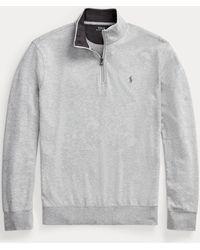 Ralph Lauren Luxury Jersey Quarter-zip Pullover - Grey