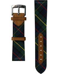 Ralph Lauren Tartan Silk Watch Strap - Black