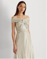 Ralph Lauren Vestido Largo Metalizado - Metálico
