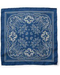 RRL - Bandanna Silk Pocket Square - Lyst