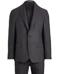 Polo Ralph Lauren Polo Pin Dot Striped Suit - Gray