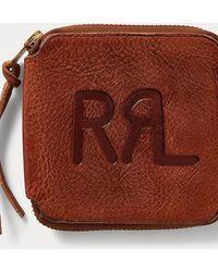 Ralph Lauren Tumbled Leather Zip Wallet - Brown