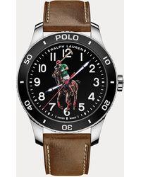 Polo Ralph Lauren Reloj Polo Con Esfera Negra - Negro