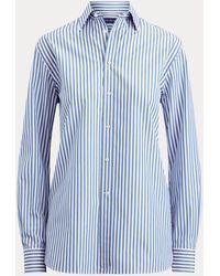 Ralph Lauren Camicia Adrien in cotone a righe - Blu