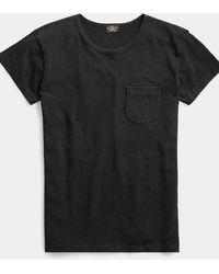 RRL Indigo Cotton Pocket T-shirt - Black