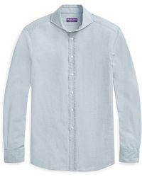 015b0222 Ralph Lauren Purple Label - Keaton Tailored Chambray Shirt - Lyst