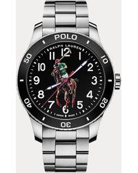 Polo Ralph Lauren Polo Watch Black Dial Steel Bracelet
