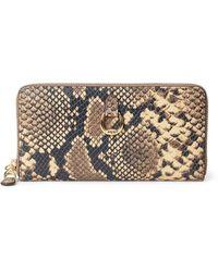 Ralph Lauren Leather Continental Zip Wallet - Multicolour