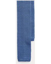 Ralph Lauren Purple Label Corbata En Seda De Morera De Punto - Azul