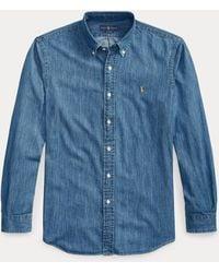 Polo Ralph Lauren Camisa Vaquera Custom Fit - Azul